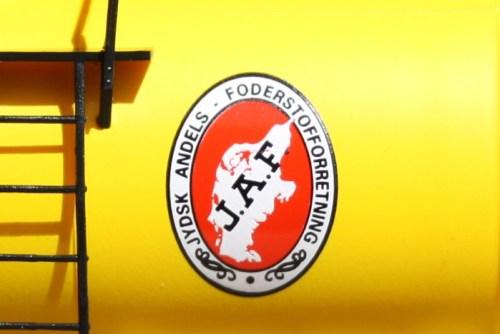 JAF's logo har måske ikke det klareste grafiske udtryk, til gengæld viser det Danmarkskortet, som det ser ud fra Jylland